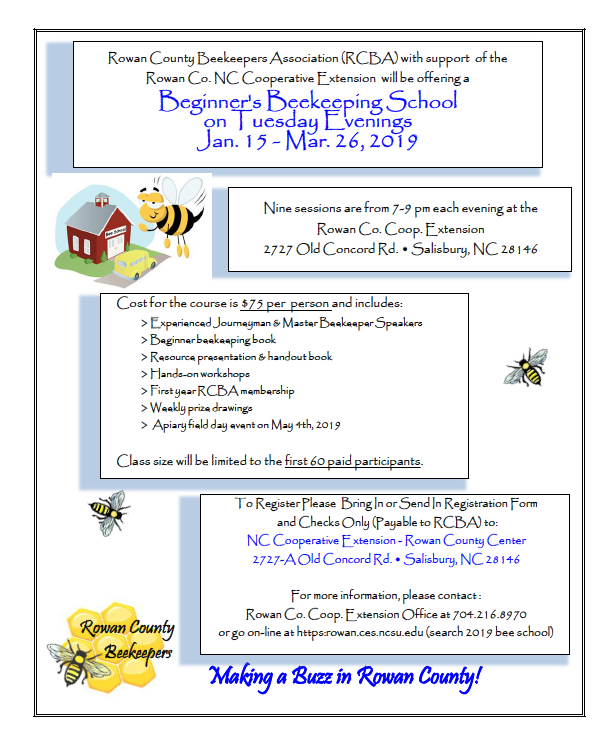 Beginne's Beekeeper School flyer image
