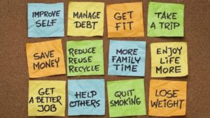 Post-it Notes of things you are going to do in the New Year