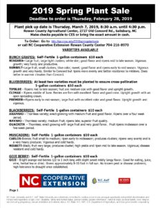 Cover photo for N.C. Cooperative Extension of Rowan County Plant Sale