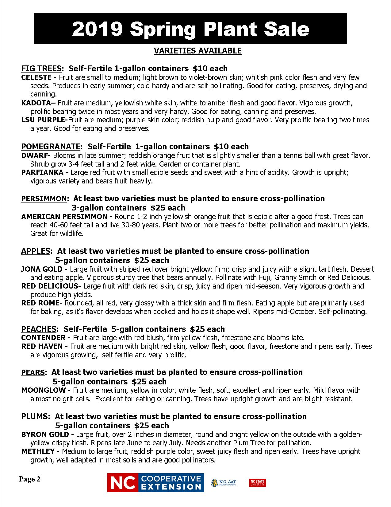 Spring Plant Sale flyer image page 2