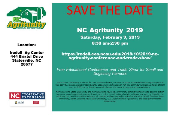 NC Agritunity Is Saturday, February 9th | North Carolina Cooperative