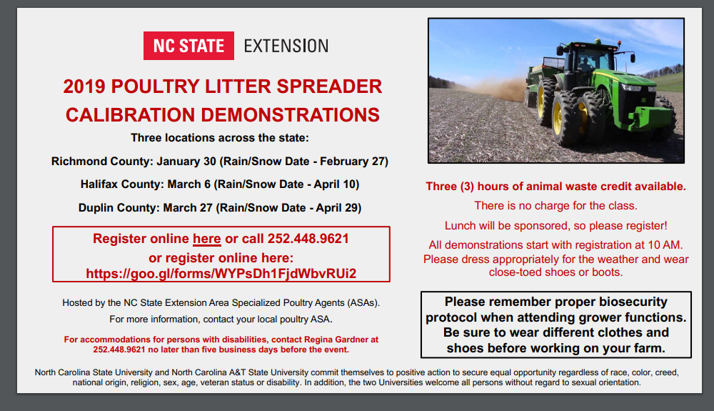 Litter Spreader Calibration Demos flyer image