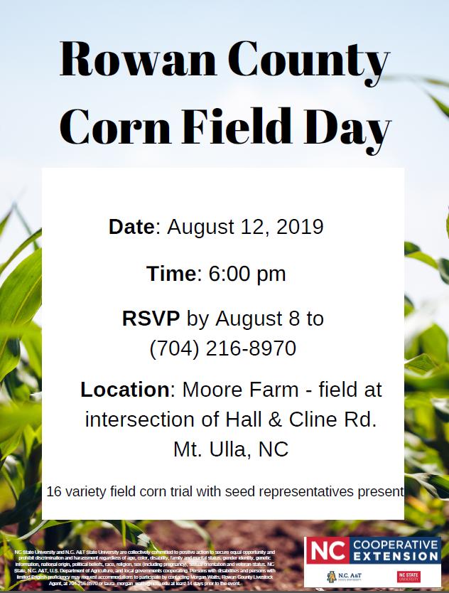 Corn Field Day Flyer