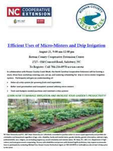 Drip Irrigation Flyer