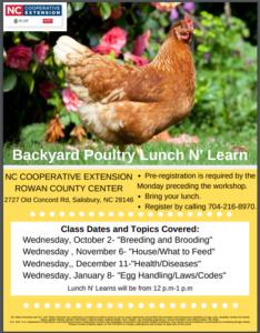 Backyard Poultry Lunch N' Learn Flyer