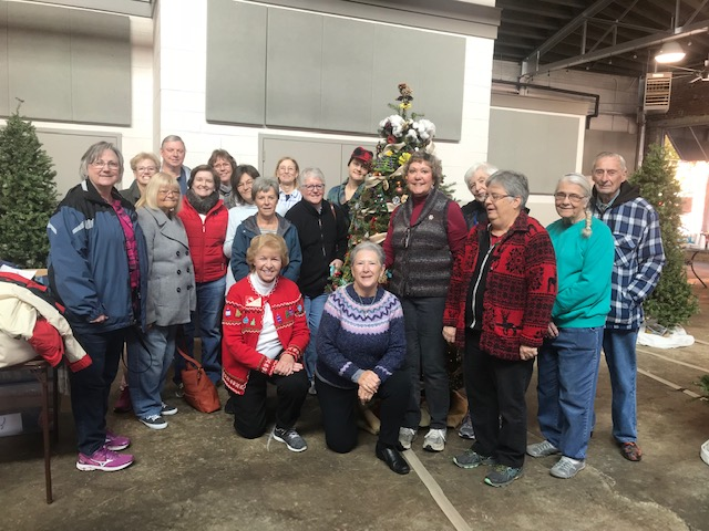 Master Gardeners at the 2018 Rowan County Festival of Trees