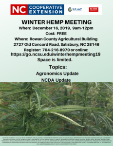 Winter Hemp Meeting Flyer