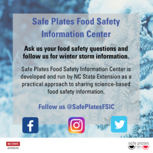 Cover photo for Winter Storm Food Safety