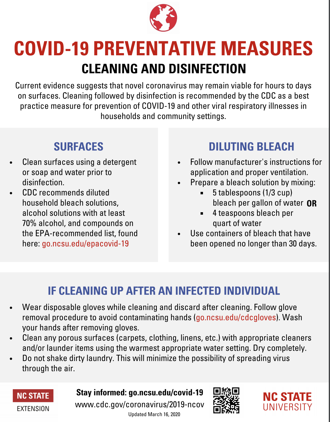 Cleaning and Disinfecting flyer image