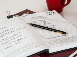 day planner can be a garden journal