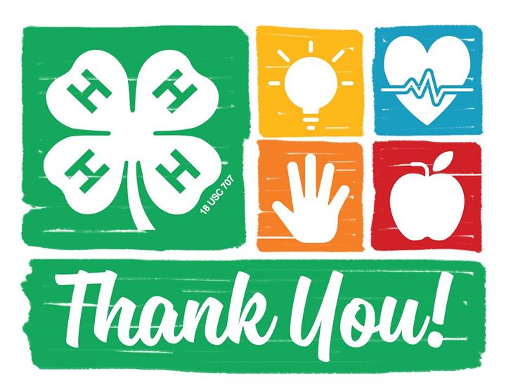 Thank you to 4-H volunteers