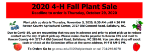 Cover photo for Rowan County 4-H Fall Plant Sale