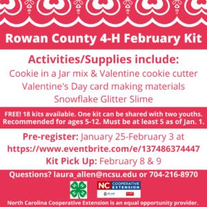 Cover photo for Register for February 4-H Kit