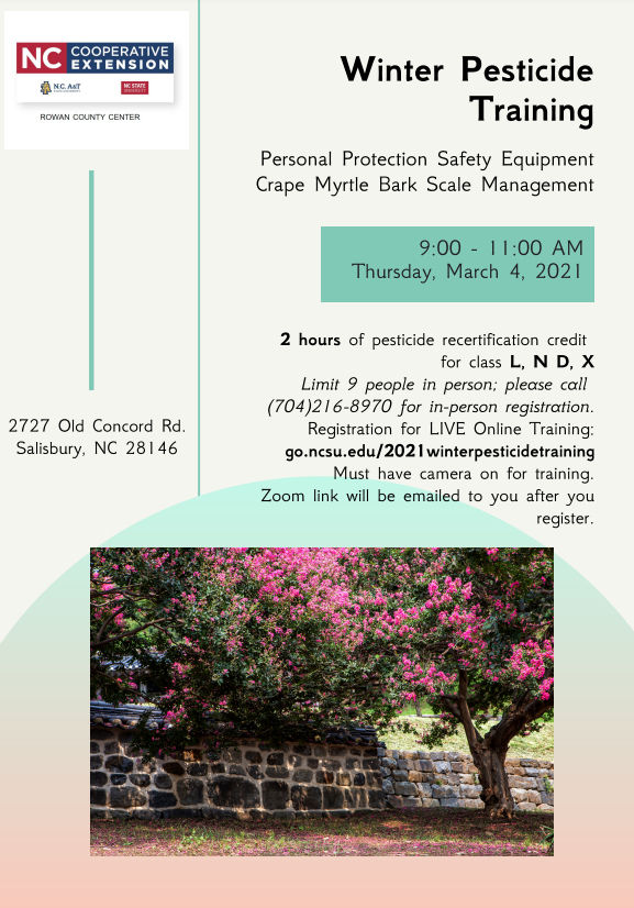 Pesticide Training Flyer