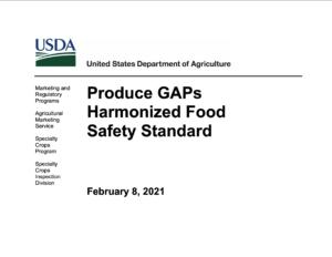 Cover photo for Updates for USDA Harmonized GAP and Harmonized GAP Plus Audits
