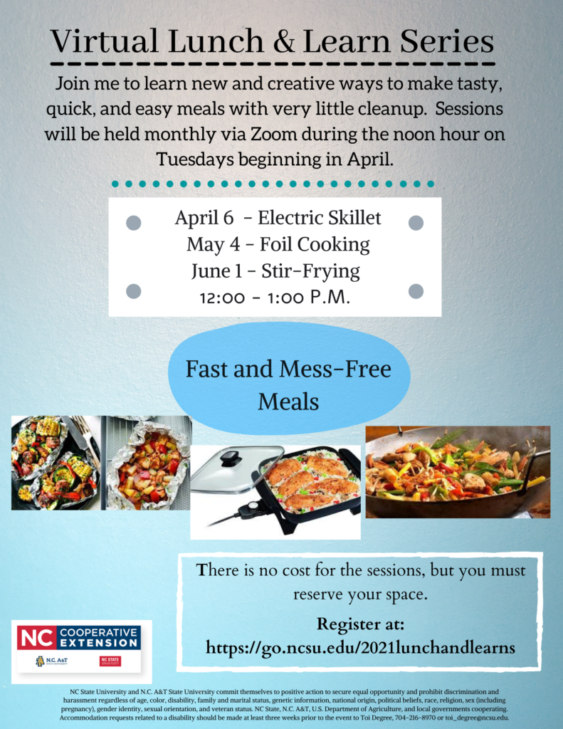 Virtual Lunch and Learn Series flyer