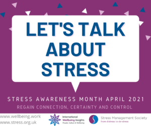 Cover photo for April Is National Stress Awareness Month