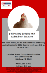 4-H Poultry Judging and Avian Bowl Practice