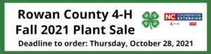 Cover photo for Fall 2021 Rowan 4-H Plant Sale; Order Now!